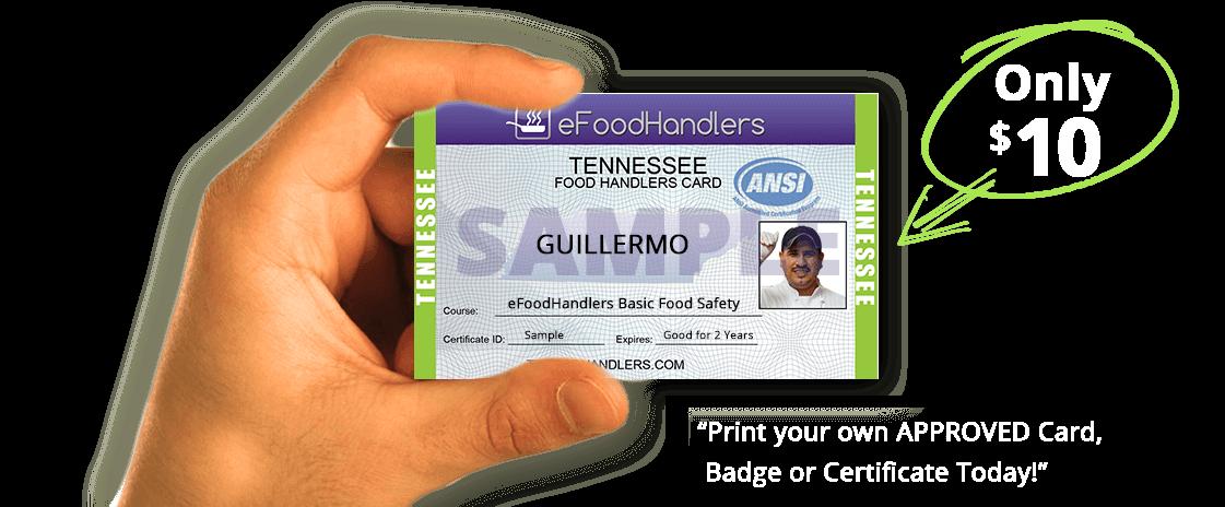 TENNESSEE Food Handlers Card | eFoodhandlers® | $10